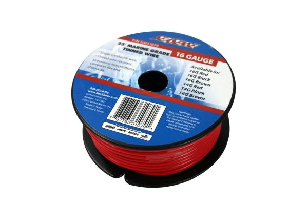 16 Gauge Tinned Wire, PVC, 25 Ft