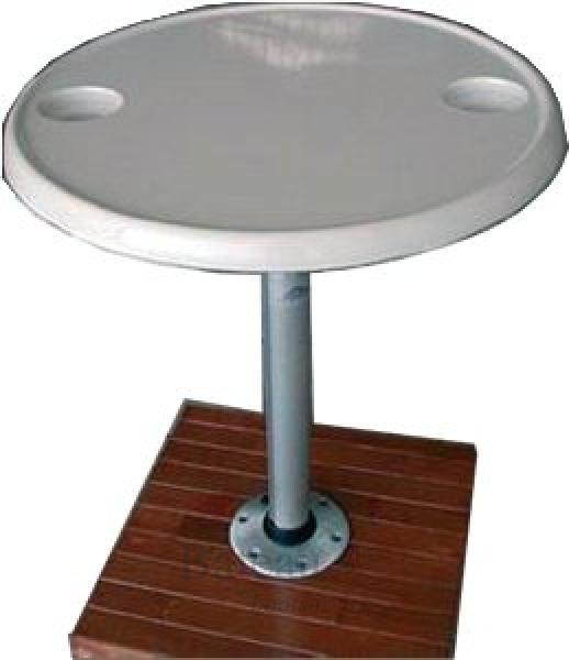 Kunststof tafel met aluminium poot en voet hoogte 685 mm for Tafel hoogte