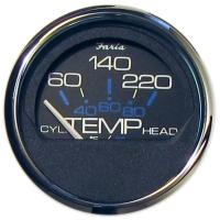 Faria Chesapeake Black SS Cylinderkop temperatuurmeter