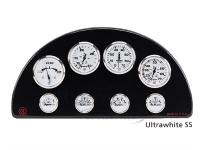 Uflex Ultrawhite SS Oliedrukmeter 0-5 Bar, 53mm
